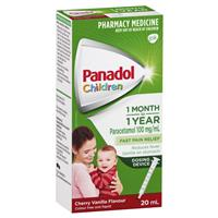 Panadol Children's Colourfree Baby Drops with Oral Dose Device Syringe 20mL