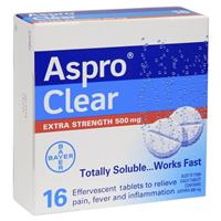 Aspro Clear Extra Strength 16