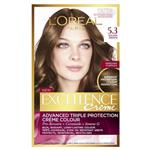 L'Oreal Paris Excellence Permanent Hair Colour - 5.3 Golden Brown (100% Grey Coverage)