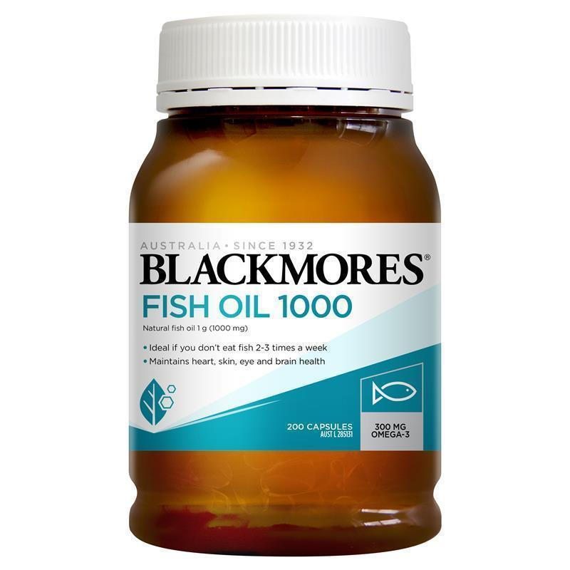 Buy blackmores fish oil 1000mg 200 capsules online at for Fish oil is good for