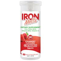 Iron Melts 50 Chewable Tablets