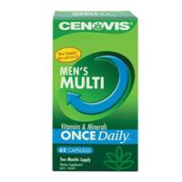 Cenovis Once Daily Men's Multivitamins & Minerals 62 Capsules