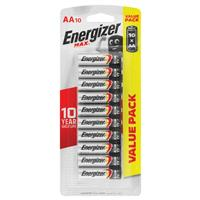 Energizer Max AA Batteries 10 Pack Value
