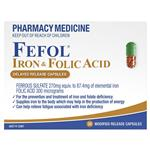 Fefol Iron & Folate Supplement Capsules 30