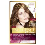 L'Oreal Paris Excellence Permanent Hair Colour - 6 Light Brown (100% Grey Coverage)