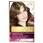 L'Oreal Paris Excellence Permanent Hair Colour - 5 Brown (100% Grey Coverage)
