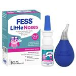 Fess Little Noses Saline Nose Spray + Aspirator 15ml