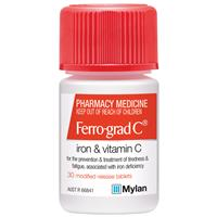 Ferro-grad C Iron & Vitamin C 30 Tablets