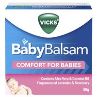 Vicks Baby Balsam Decongestant Chest Rub 50g