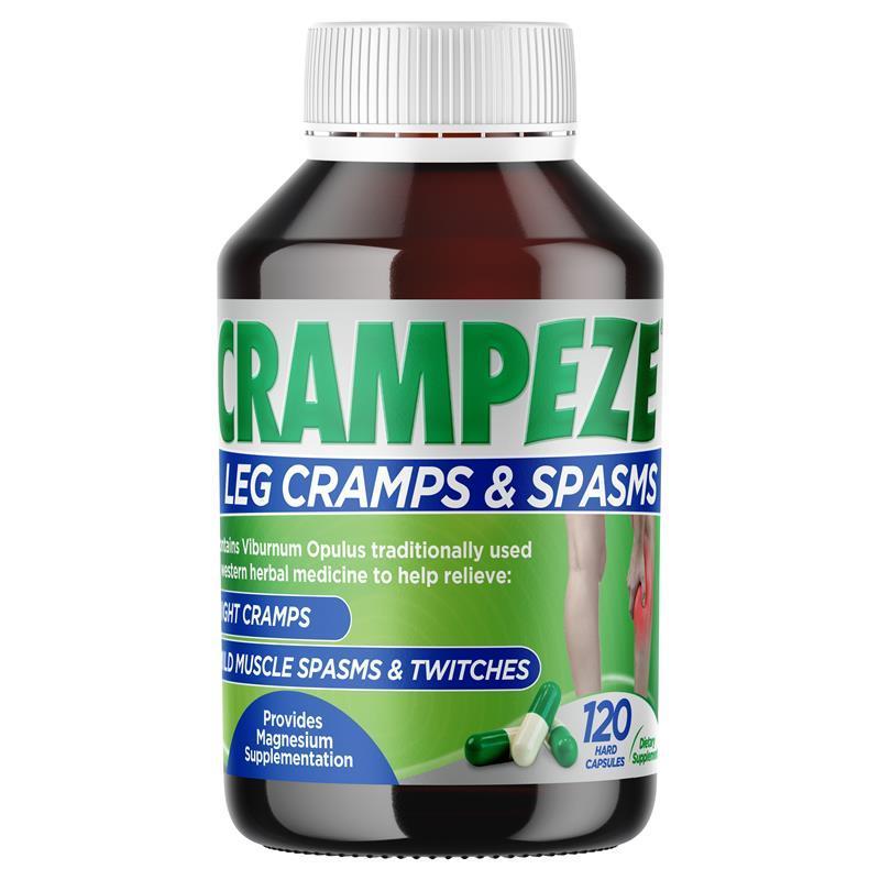 Crampeze Night Cramps 120 Capsules 9329224000261