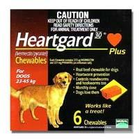 Heartgard 30 Plus Chewables for dogs 23-45kg (Brown) 6 pack