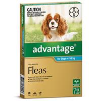 Advantage for  Dogs 4 - 10 kg 6 pack