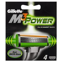 Gillette M3 Power Razor Refills 4 Pack