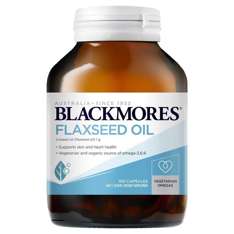 Buy blackmores flaxseed oil 1000mg 100 vegetarian capsules for Flaxseed or fish oil