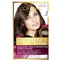 L'Oreal Paris Excellence Permanent Hair Colour - 4 Dark Brown (100% Grey Coverage)