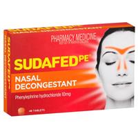 Sudafed PE Sinus and Nasal Decongestant 48 Tablets