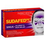 Sudafed Pe Sinus Plus Allergy and Pain Relief 48 Tablets