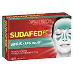 Sudafed PE Sinus and Pain Relief 48 Tablets