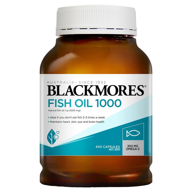 Blackmores Fish Oil 1000mg 400 Capsules - My Chemist