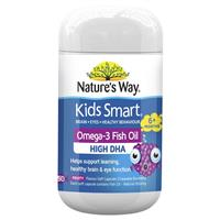 Nature's Way Kids Smart Omega-3 Fish Oil Fruity Flavour 50 Chewable Capsules