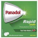 Panadol Rapid Soluble Paracetamol Pain Relief Tablets 500mg 20
