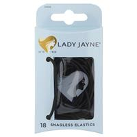 Lady Jayne Snagless Black Hair Elastics 18 Pack