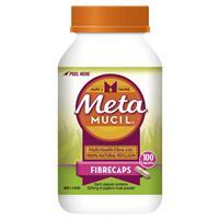 Metamucil Fibre Supplement Capsules 100