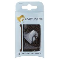 Lady Jayne Snagless Hair Elastics Brown 18 Pack