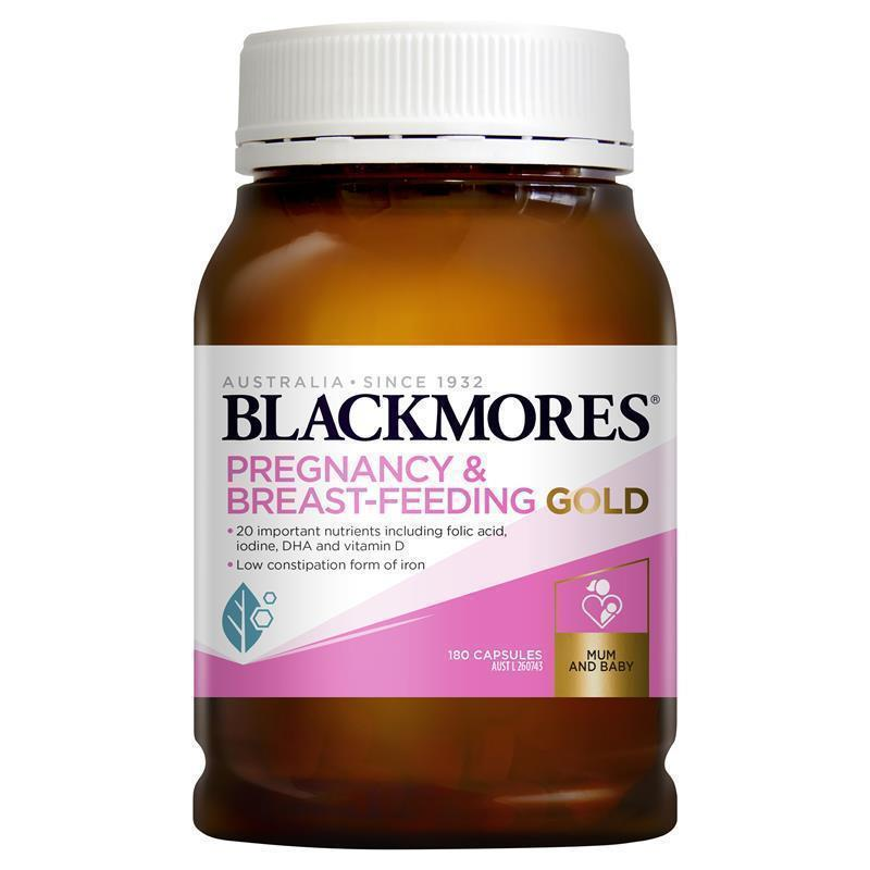 Blackmores pregnancy and breastfeeding gold 180 capsules for Fish oil pregnancy