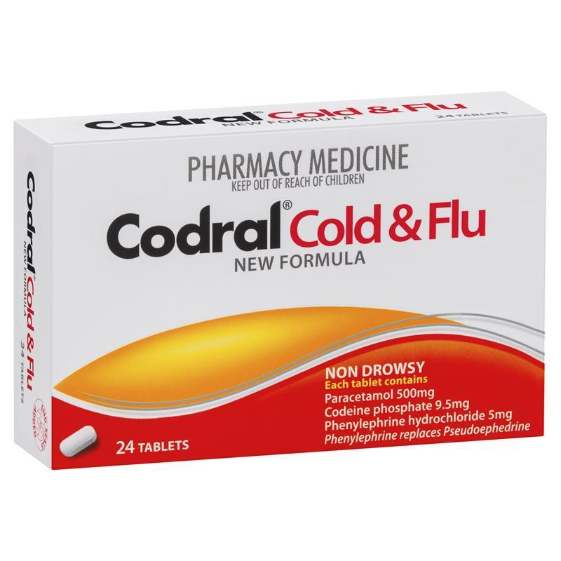 Codral pe cold amp flu non drowsy 24 tablets chemist warehouse