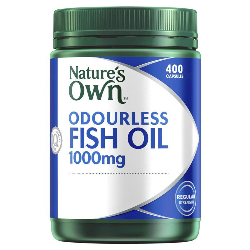 Nature 39 s own odourless fish oil 1000mg 400 capsules for Fish oil 1000mg