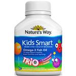 Nature's Way Kids Smart Omega 3 FIsh Oil Trio(Blackcurrant, Strawberry, Orange)60 Softgels
