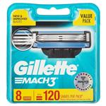 Gillette Mach 3 Refill Shaving Cartridges Pack 8