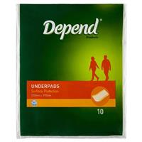 Depend Underpads 10 Pack