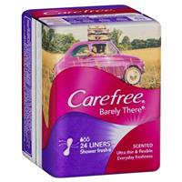 Carefree Barely There Shower Fresh Scent 24 Liners