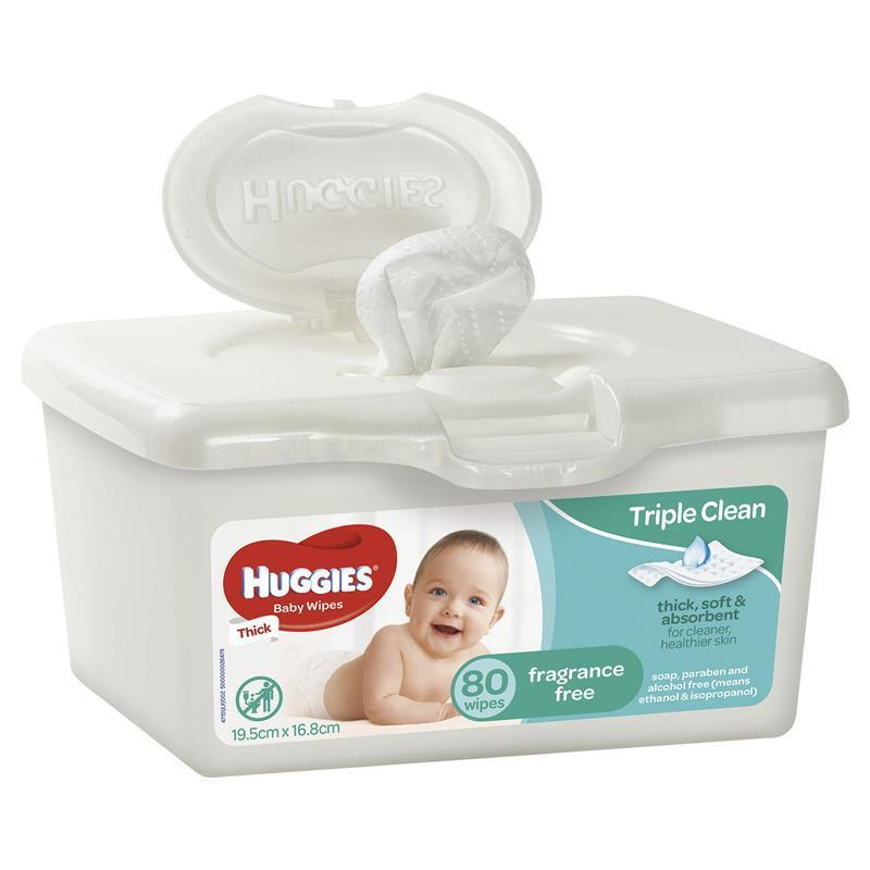 buy huggies baby wipes unscented 80 tub online at chemist. Black Bedroom Furniture Sets. Home Design Ideas