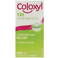 Coloxyl 120mg 100 Tablets Filmcoat