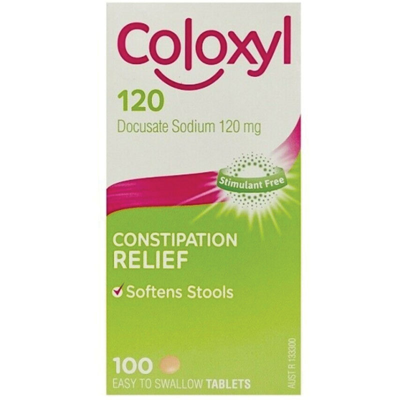 Coloxyl 120mg 100 Tablets Filmcoat Epharmacy