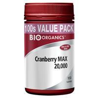 Bio-Organics Cranberry MAX 20000mg 100 Tablets