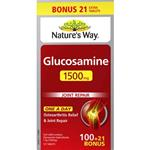 Nature's Way Glucosamine 1500mg 100 Tablets + 21 Bonus