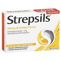 Strepsils Lozenges Honey & Lemon 36
