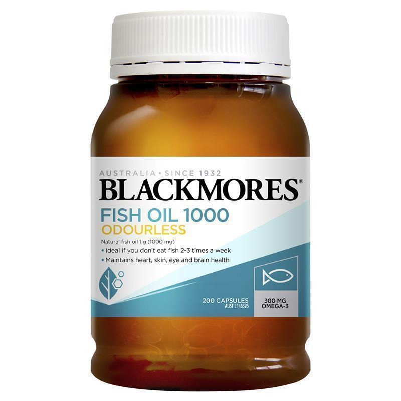 Buy blackmores odourless fish oil 1000mg 200 capsules for Fish oil 1000mg