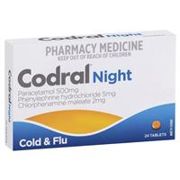 Codral PE Night Time 24 Tablets