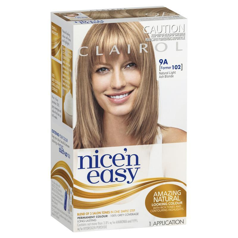 Clairol Nice And Easy 102 Natural Light Ash Blonde | Dark Brown Hairs