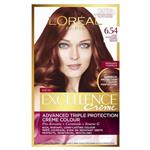 L'Oreal Paris Excellence Permanent Hair Colour - 6.54 Light Mahogany Copper Brown (100% Grey Coverage)