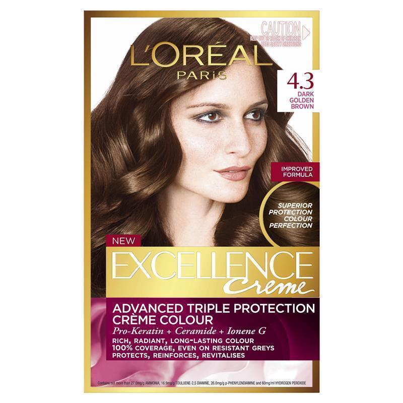 L Oreal Excellence Creme 4 3 Dark Golden Brown Epharmacy