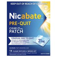 Nicabate Patch Pre-Quit 21mg 14 Day