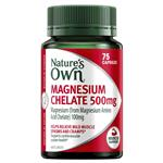 Nature's Own Magnesium Chelated 500mg 75 Capsules