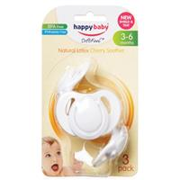 Happy Baby Cherry Soother Medium 3 - 6 Months 3 pack