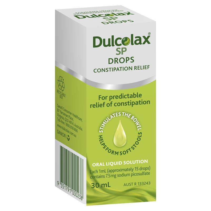 Buy dulcolax sp drops 30ml online at chemist warehouse for Can fish oil cause constipation